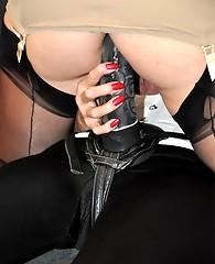 Sexy TGirl Katy gets fucked hard by Strapon Jane