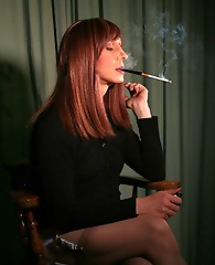 Various shots of sexy Lucimay smoking cigarettes and looking sexy.