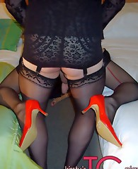 One very lucky guy gets to fuck gorgeous TGirl Kirsty's tight virgin ass