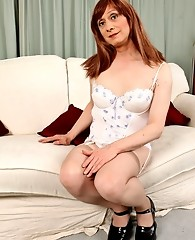 Horny Tgirl Lucimay bends over and gets ready for a spanking