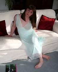 Sexy Tgirl Lucimay relaxing and playing with her cock