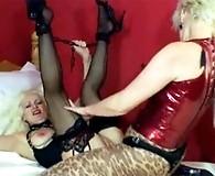 Strapon Helga fucks this horny lesbians pussy so hard