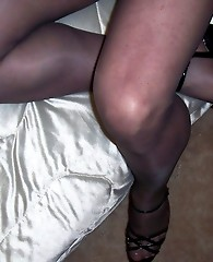 Cross dressers long legs and big dick in sexy nylons
