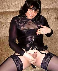 Lots of blowjob action with these dirty crossdressers