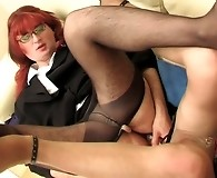 Redhead sissy guy with his gay co-worker getting the most from dildotoying