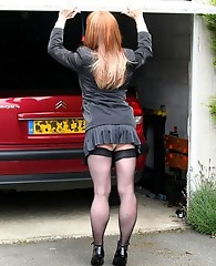 Tgirl Lucimay gets kidnapped and tied up in a garage